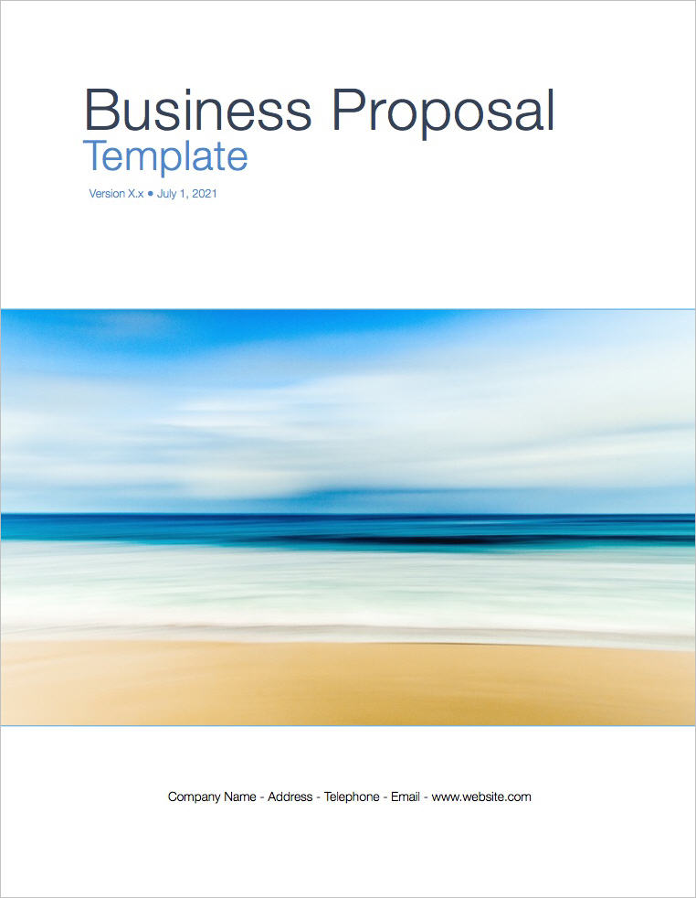 Business Proposal Template (Apple iWork Pages) - microsoft business proposal template