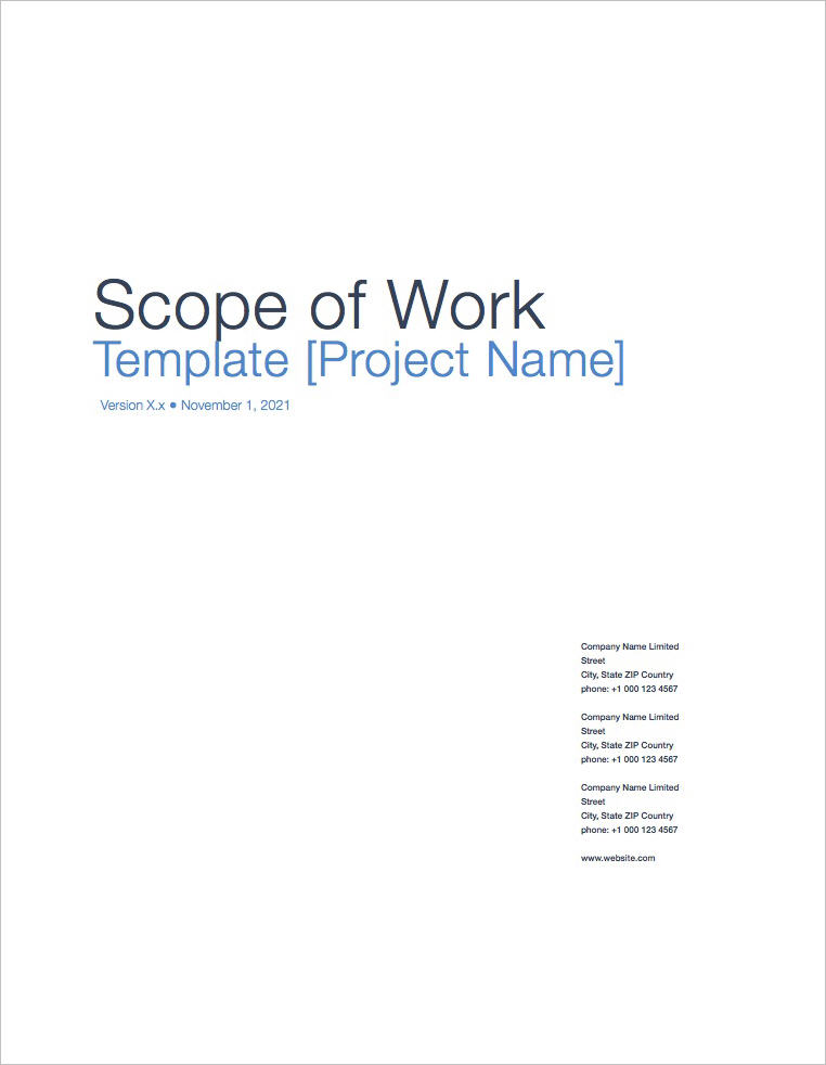 Scope of Work Template (Apple iWork) - scope of work template