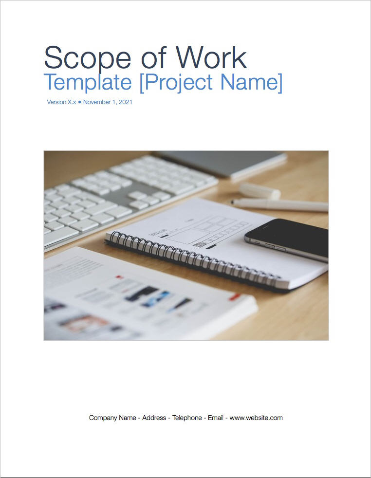 Scope of Work Template (Apple iWork Pages) - scope of work template