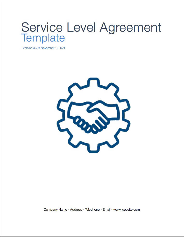 Service Level Agreement Template (Apple iWork Pages/Numbers