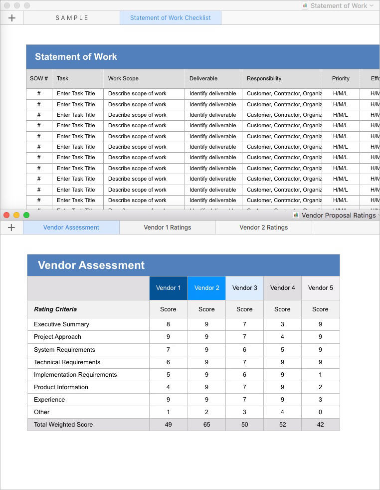 Statement of Work Template (Apple iWork Pages) Templates, Forms