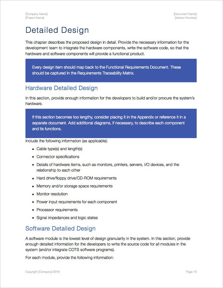 System Design Document Template (Apple iWork Pages) - business requirements document template