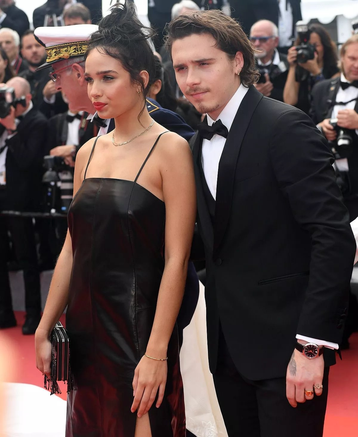 Frisur Victoria Beckham Brooklyn Beckham Mit Freundin Hana Cross In Cannes