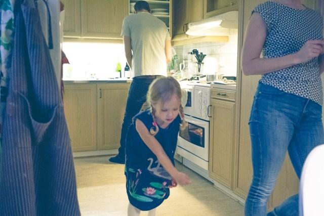 Familjen Svensson/Espling bjud till med middag
