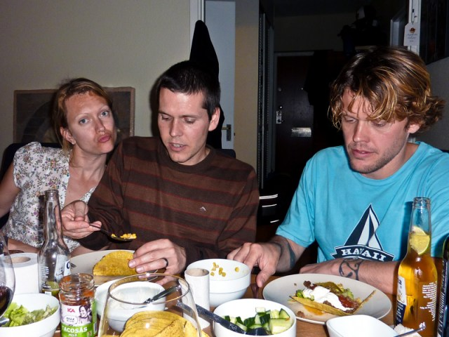 Taco mys med familjerna Larsson