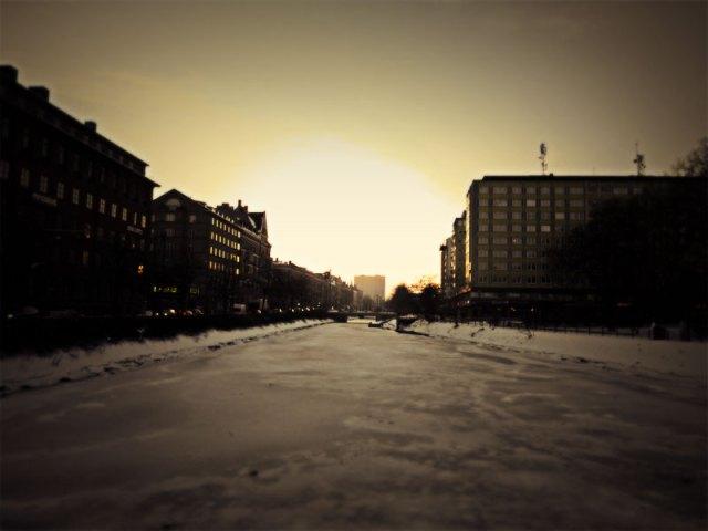 En kall vinter kväll