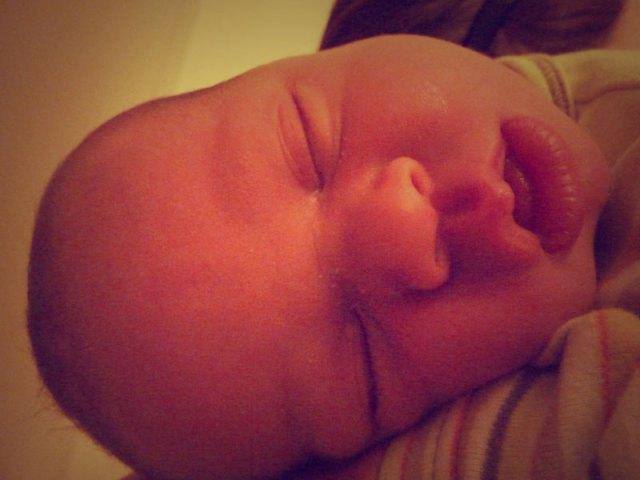 funny sleepy face