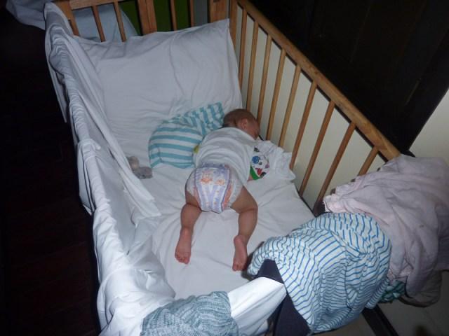 Efter en lång dag sover man tungt
