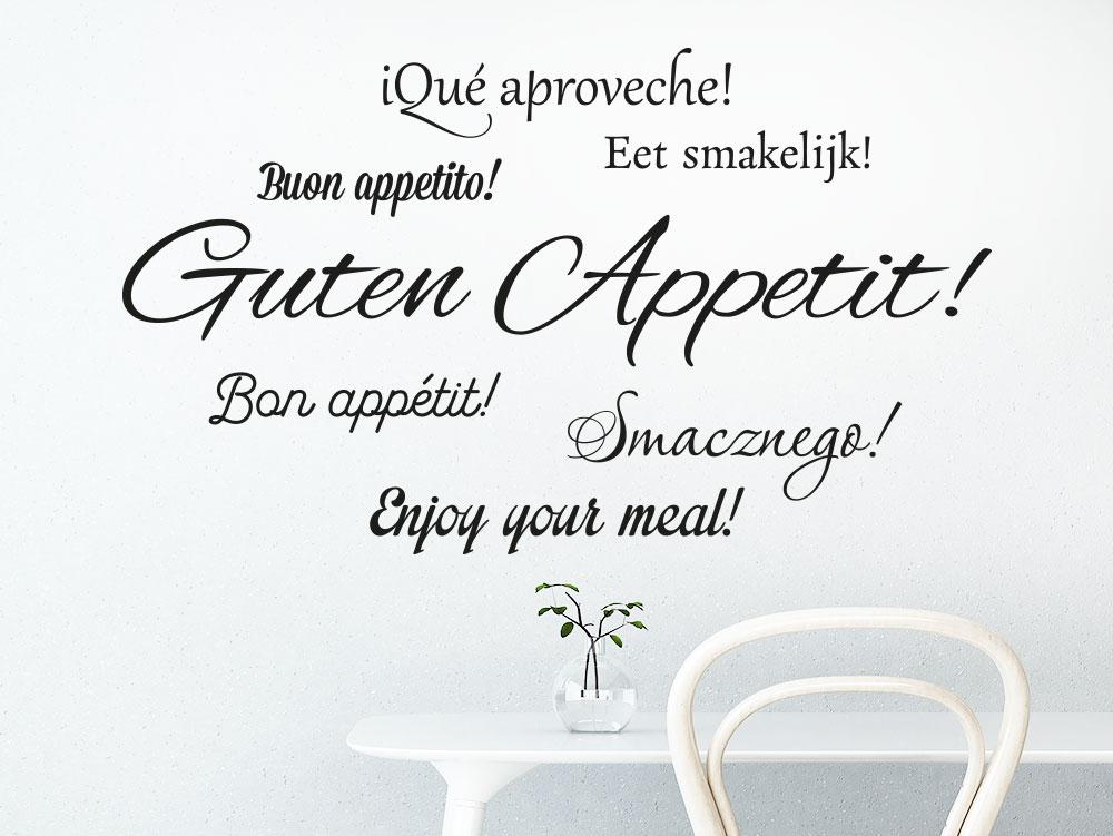 Wandtattoo Küche Guten Appetit Sprachen
