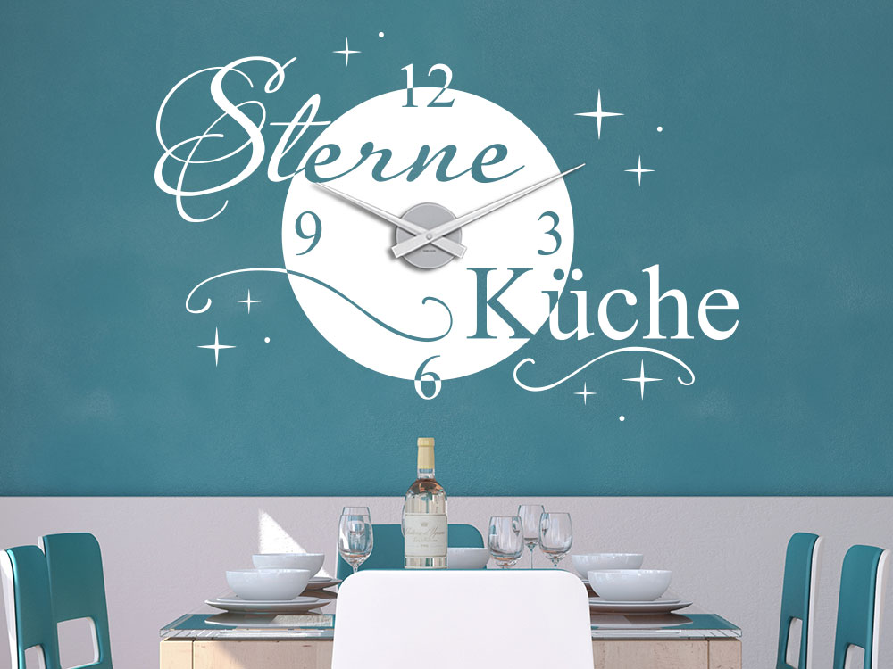 Schön Wandtattoo Uhr Sterne Küche Von KLEBEHELD®DE #56   Esszimmer 2 Sterne