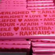 liefde chocoladereep