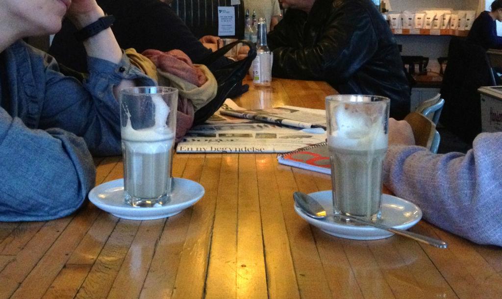 cafe latte hipster