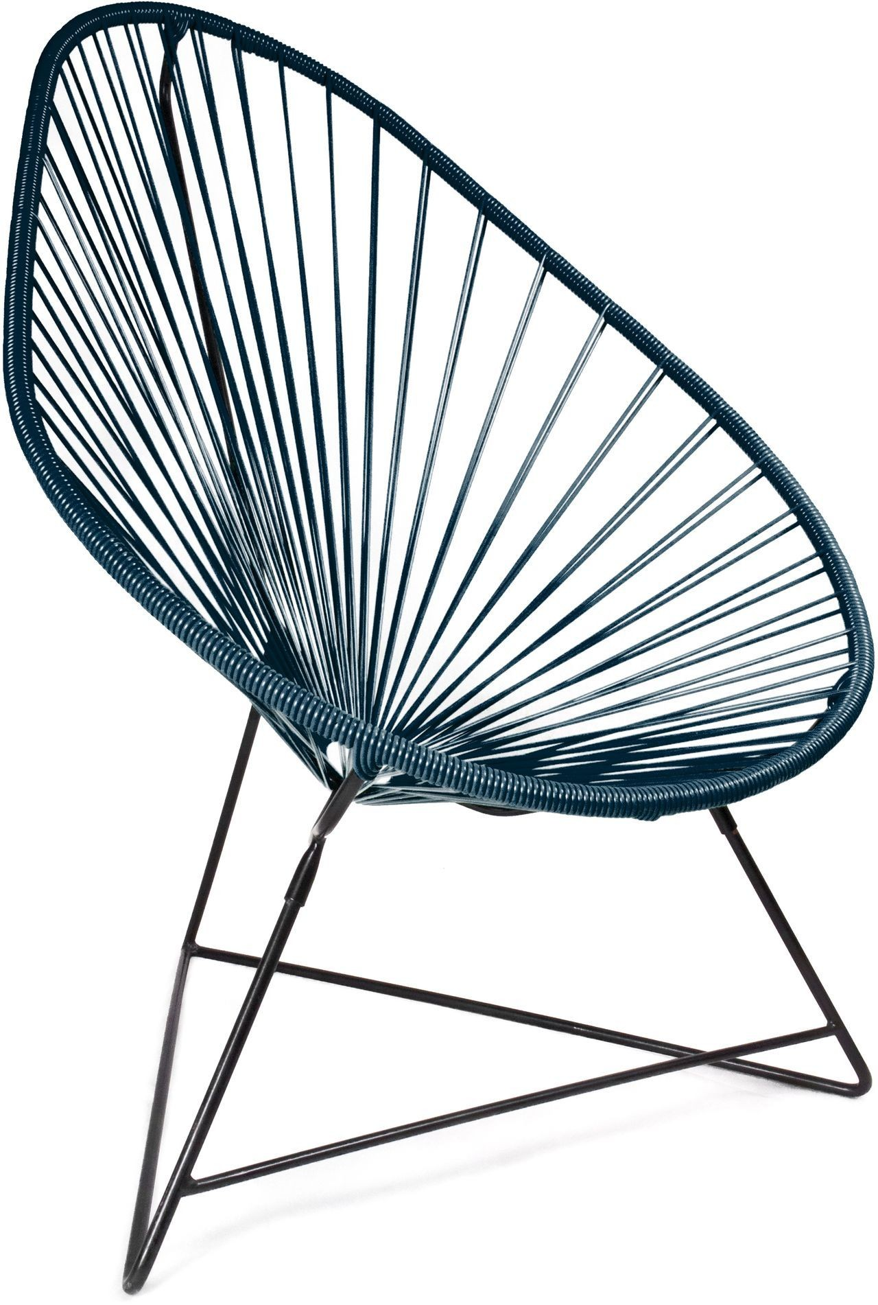 Design Sessel Boqa Acapulco Chair Design Sessel Schwarz Petrol