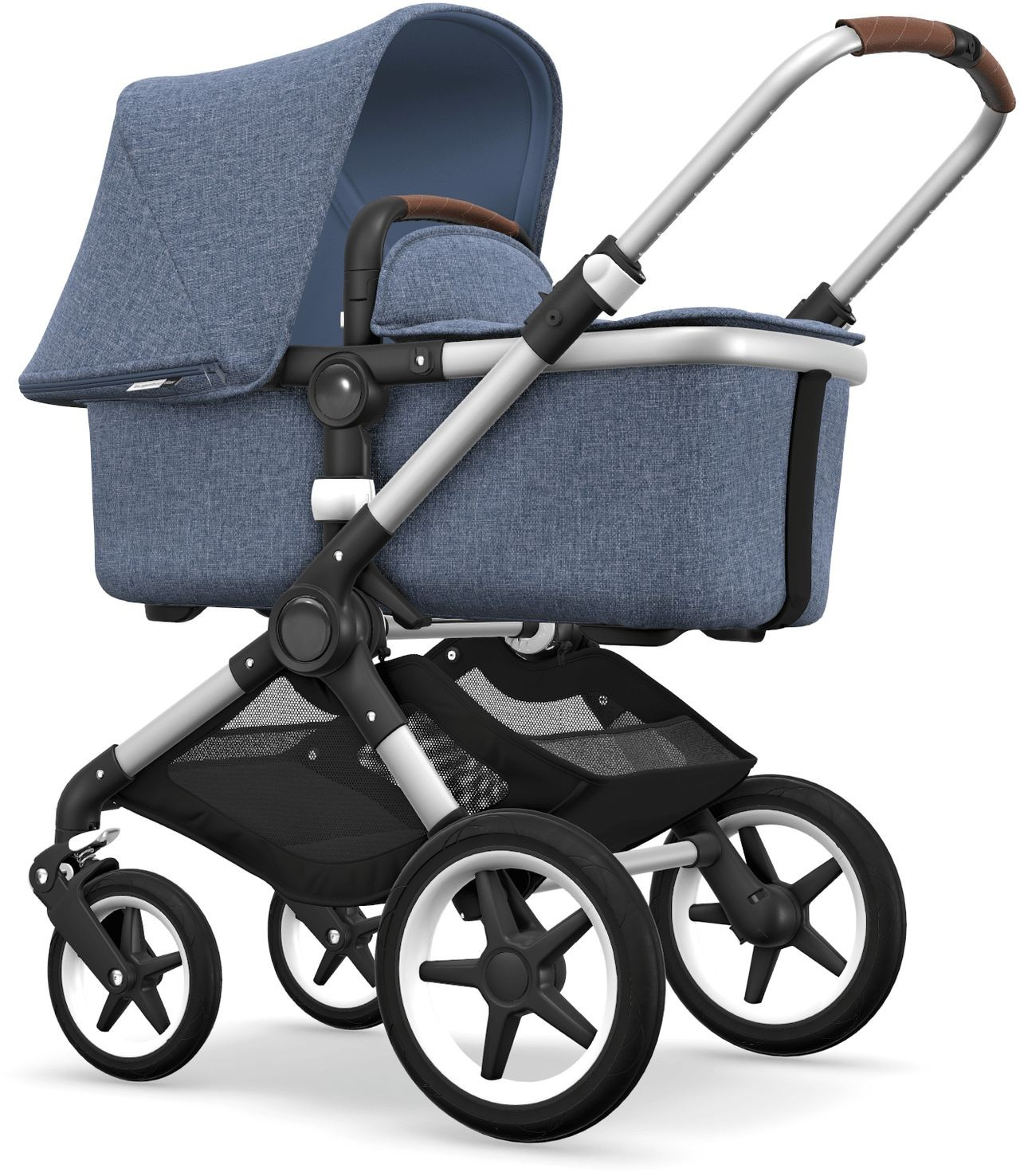 Stiftung Warentest Kinderwagen Bugaboo Bugaboo Fox Kinderwagen Set Styled By You Silber Blau Melange