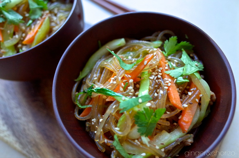 Food Friday : Korean Glass Noodles (Jap Chae)