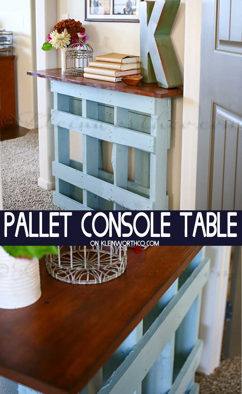 Diy Table With Pallets Diy Pallet Console Table Kleinworth Co