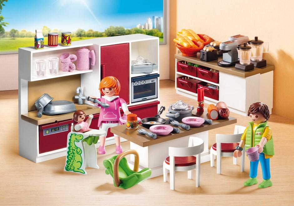 Playmobil Küche 5336 Playmobil Set: 9269 - Large Family Kitchen - Klickypedia