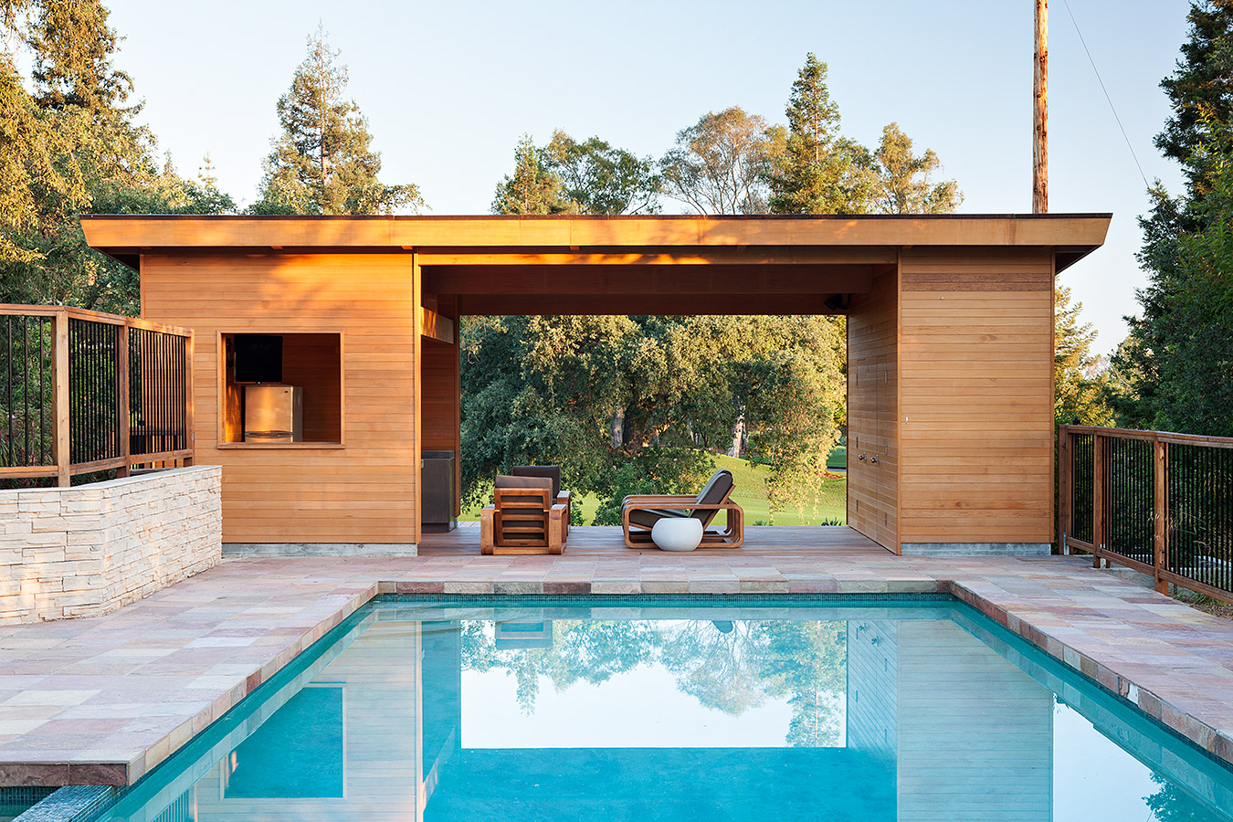 Amenagement Pool House Modern Pool House Klopf Architecture