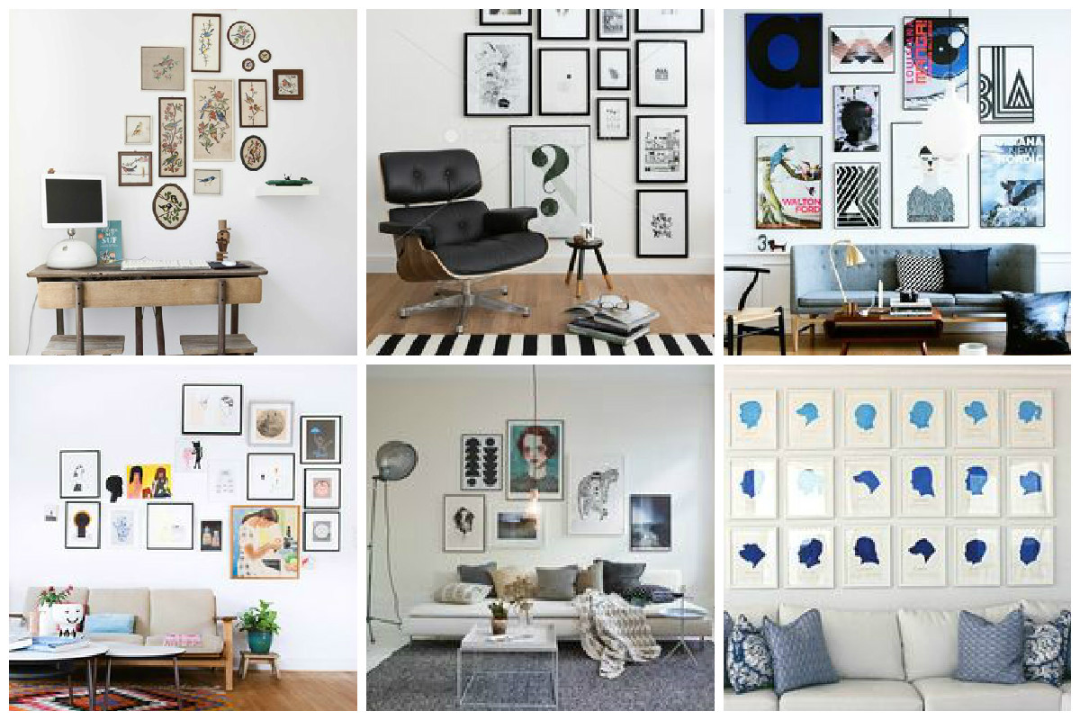 Idyllic Decide On Layout Six Steps To Create Gallery Wall King Mcgaw Gallery Wall Layout Ideas Rachael Ray Wall Gallery Layouts inspiration Gallery Wall Layout