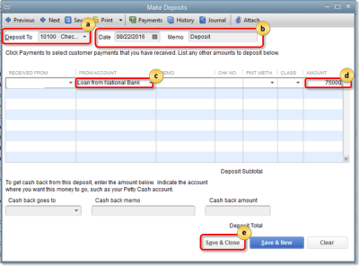 Manually track loans - QuickBooks Community