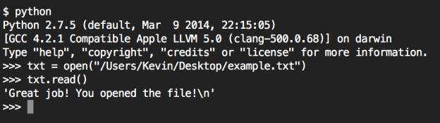 Mac Terminal Python Commands