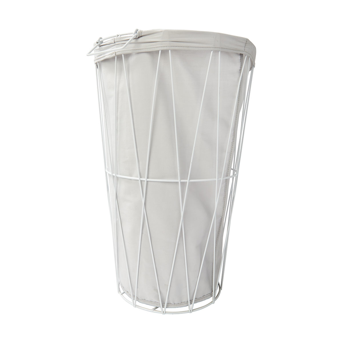 White Hamper With Liner Wire Hamper With Removable Liner White Kmartnz