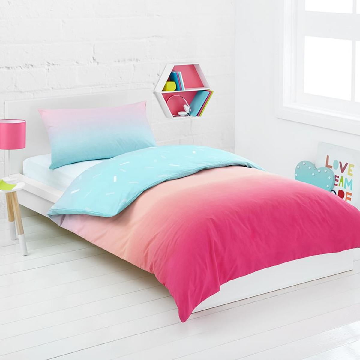 Target Queen Quilt Cover Rainbow Reversible Quilt Cover Set Single Bed Kmart