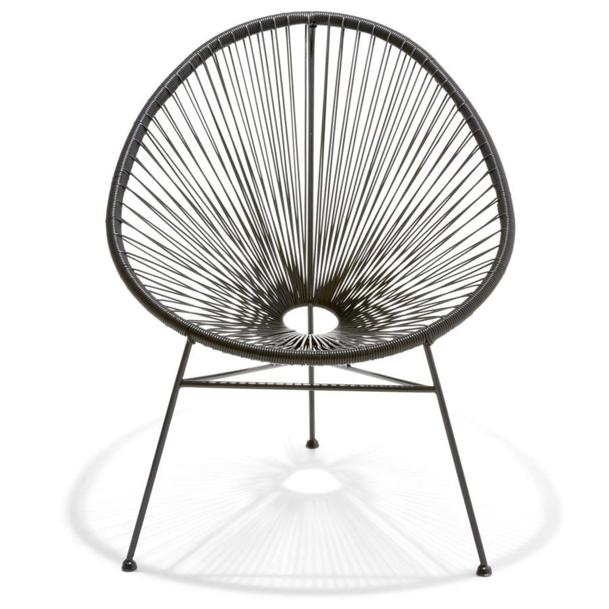 Egg Chair Adelaide Acapulco Replica Chair Black Kmart