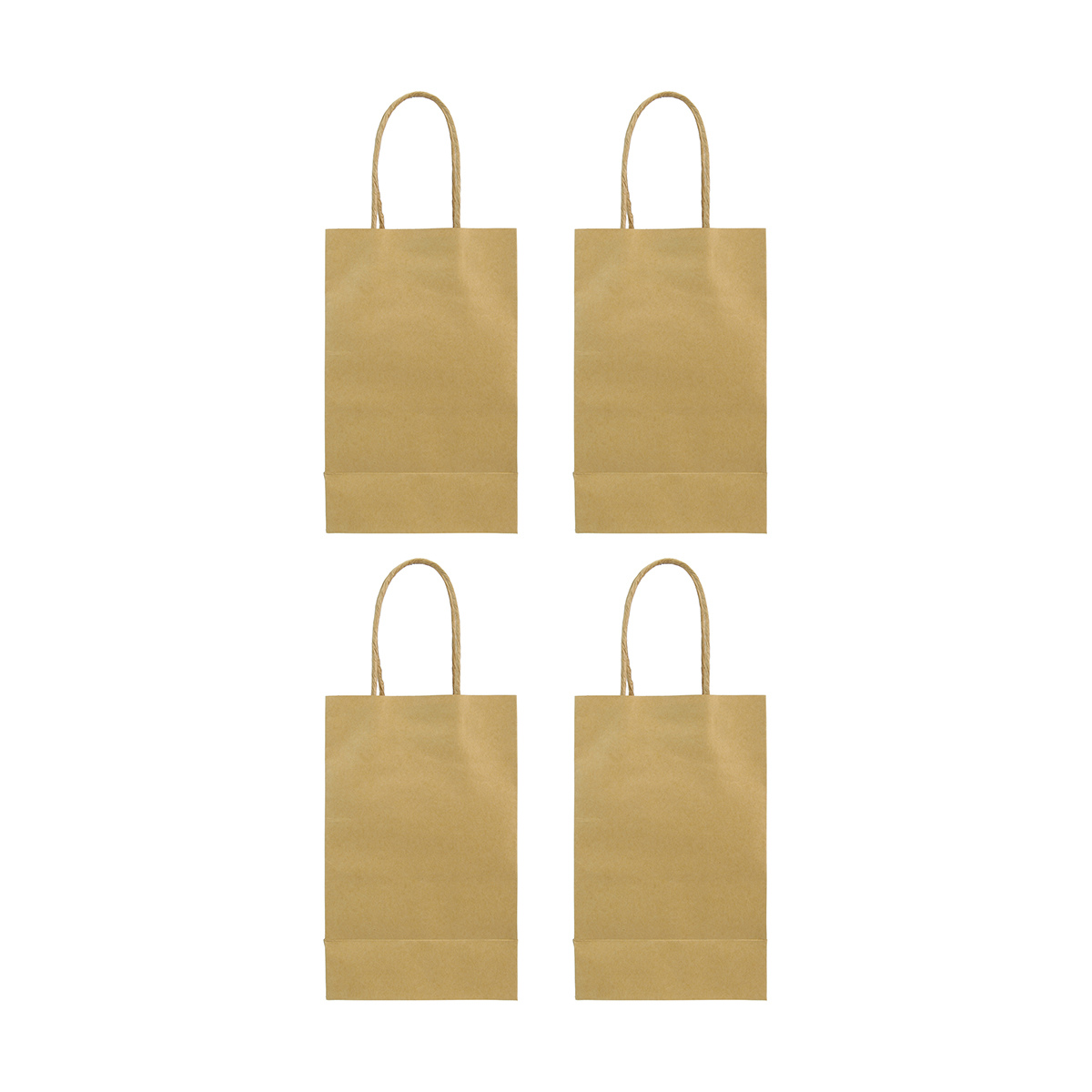 Brown Paper Bags With Handles Kmart Craft Bags 4 Pack Kmart
