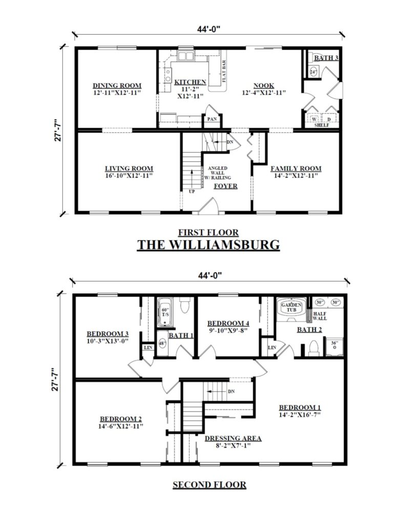 Two Story Modular Floor Plans