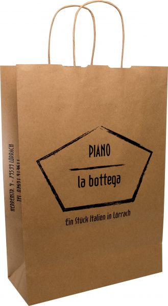 Paper bag BASIC with twisted paper handles 110gr kraft paper