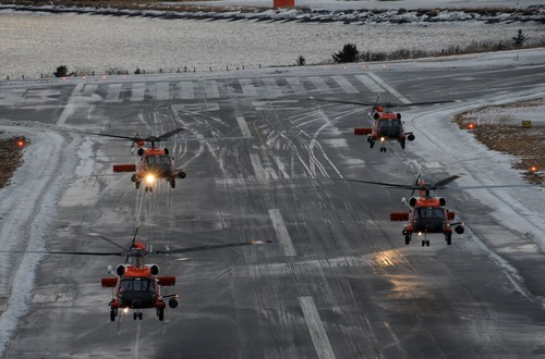 USCG Aircrews Prep for Crab Season by Stationing Chopper in Cold Bay