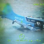 Two Coast Guard Air Station Kodiak helicopter aircrews rescue three people after their float plane crashed in the vicinity of Uganik Lake on Kodiak Island, Alaska, Sept. 9, 2016.  Watchstanders at the 17th Coast Guard District command center received an electronic locator beacon alert from a De Havilland DHC-2 float plane at 12:20 p.m., which prompted the launch of the two rescue helicopters.  U.S. Coast Guard video.