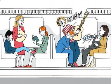 Editorial Illustration, S-Bahn Magazin München.