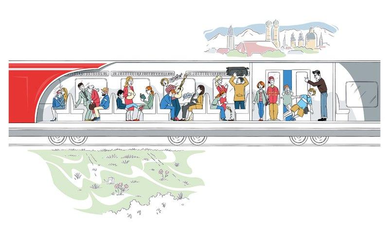 Illustration-S-Bahn-München
