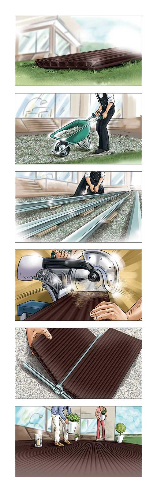Stotyboard, Shooting Board, Layout Illustration, Scribbles