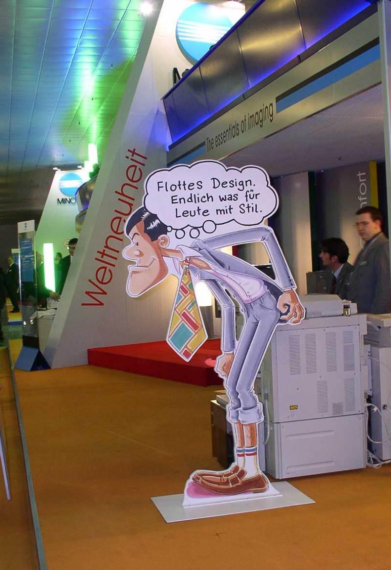 Comic-Zeichner-Werbung