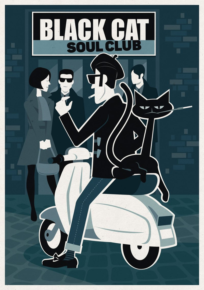 Northern Soul Club Flyer Illustartion