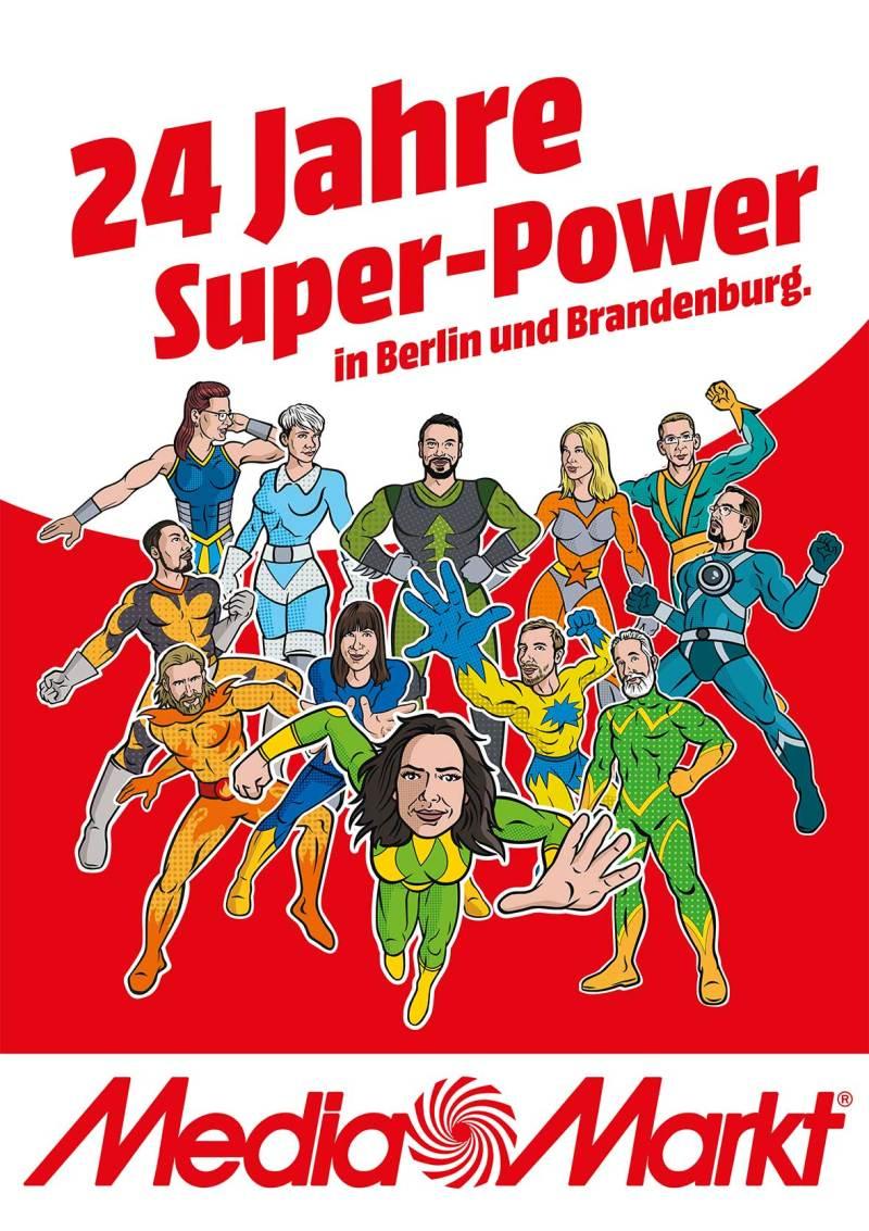 Comic Superhelden Illustrationen für Werbung