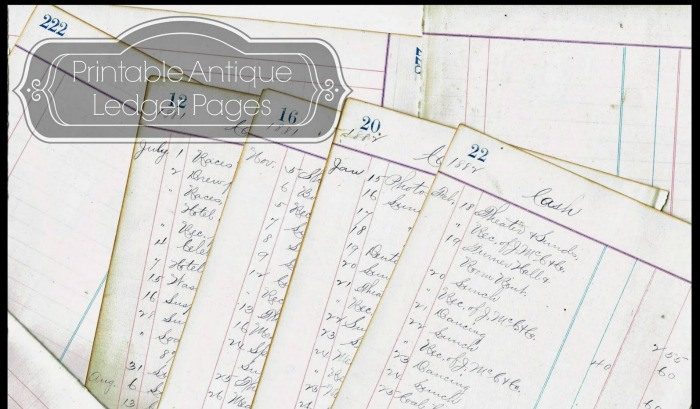 Antique Ledger Pages - A Glimpse into an 1800\u0027s Life Knick of Time