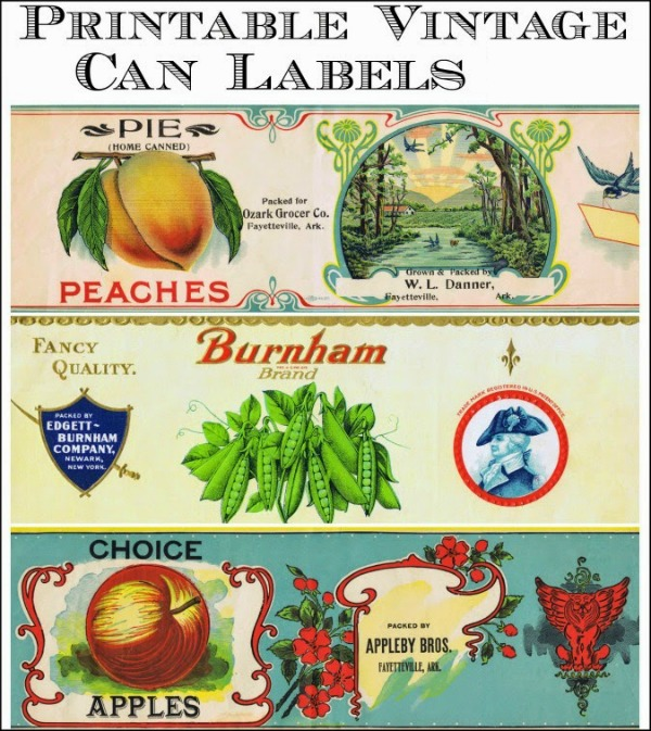 Antique Tin Can Fruit Label Printables Knick of Time