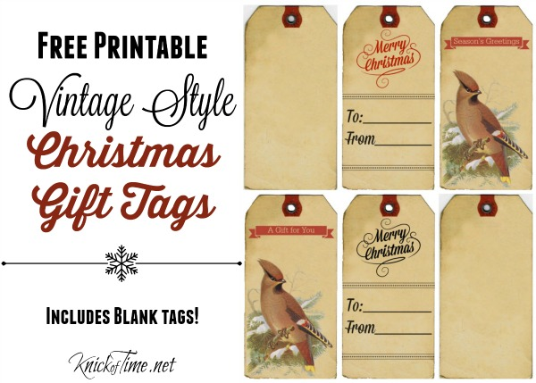 Vintage Christmas Gift Tags, Labels and Stickers Knick of Time