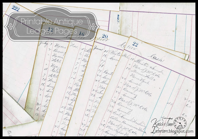 Antique Ledger Pages - A Glimpse into an 1800\u0027s Life Knick of Time - printable ledger pages