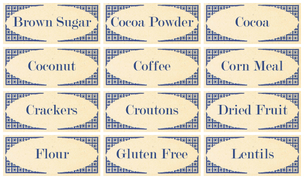 Vintage Style Pantry Labels from KnickofTimenet