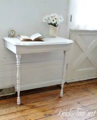 Repurposed Half Table into Nightstand - Knick of Time