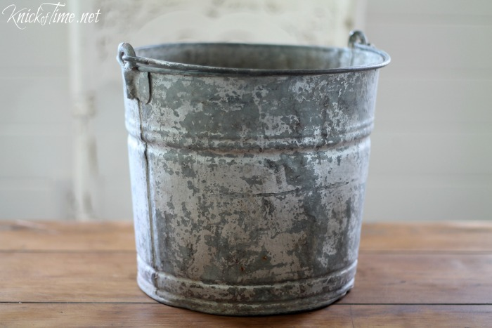 Galvanized Bucket Makeover Knick Of Time