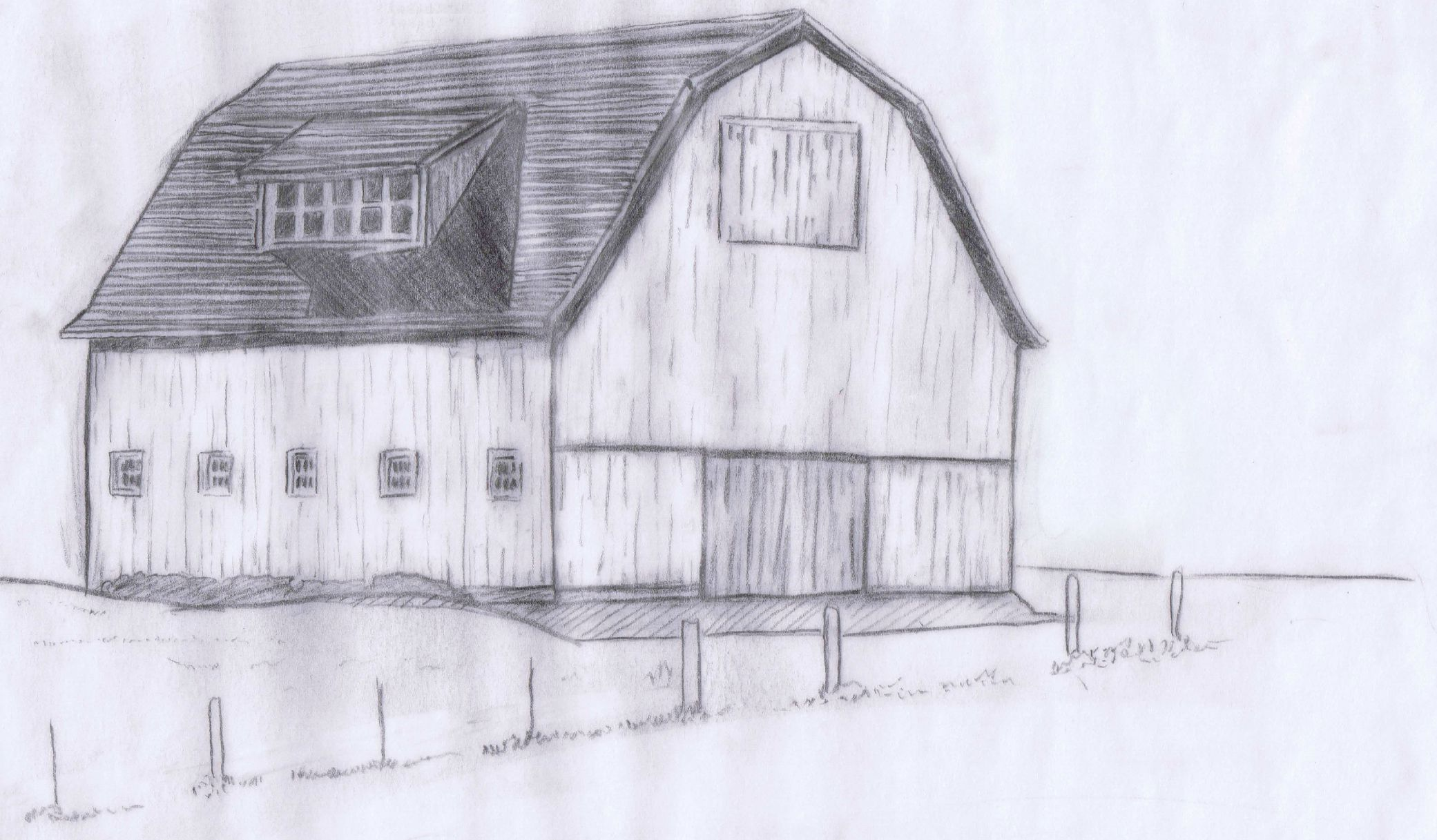 Red Farmhouse Drawing Weekending Hand Lettering And Sketching Knick Of Time
