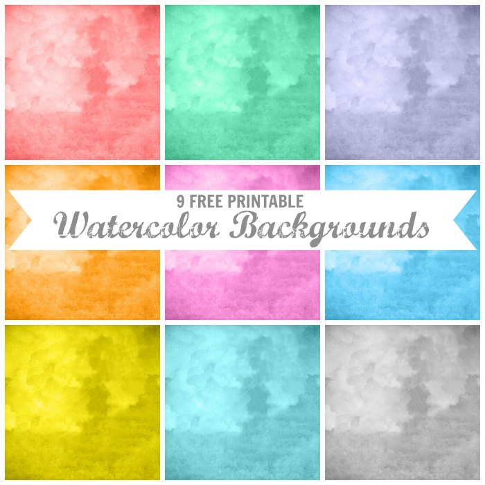 Watercolor Art + Printable Backgrounds Knick of Time