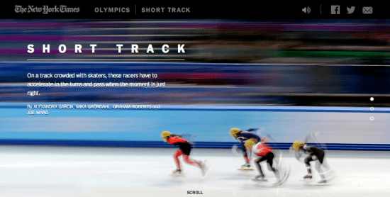 The New York Times' graphics team began working on the explanatory, video-based interactives for the Winter Olympics (many of which explain obscure sports) many months in advance.