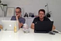 Gimlet Media co-founders Alex Blumberg and Mattew Lieber